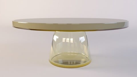 Small glass Table Bell