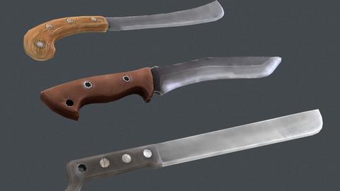 Stylized machetes set