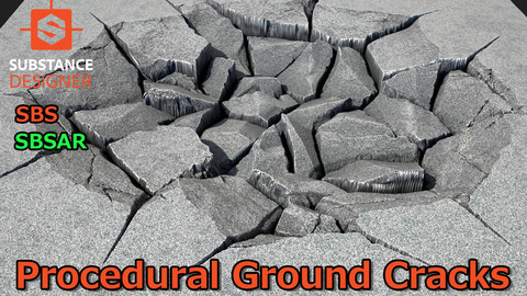 Procedural Ground Cracks