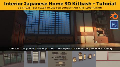Japanese Interior Home 3D Kit + Tutorial
