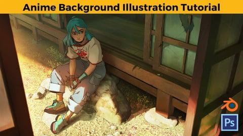 Anime Background Illustration Tutorial
