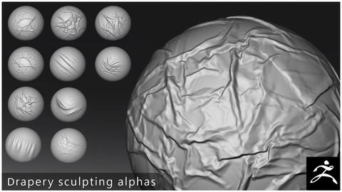Drapery sculpting alphas