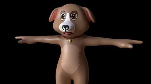 Low Poly cartoon dog