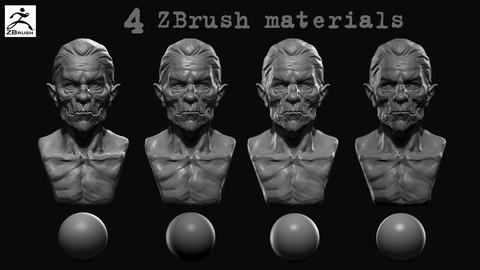 4 ZBrush materials