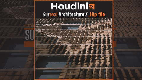 Surreal Architecture Animation / Free .Hip file  (Houdini Apprentice)