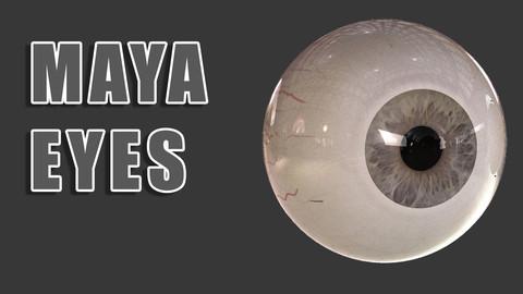 Maya Rigged Eyes