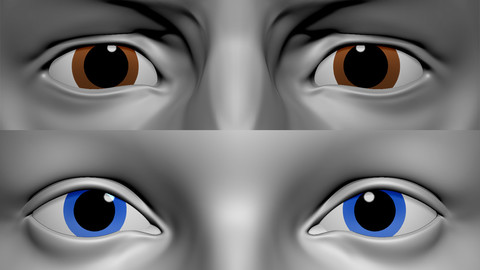 Painting Eyes For Characters Fast In Zbrush