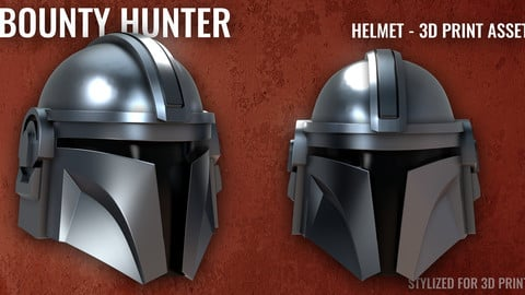 Bounty Hunter - Helmet - 3D Print Asset