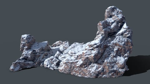 FREE 200k poly mountain model with PBR maps