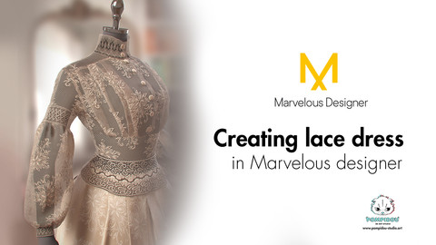 Project files on creating lace dress in Marvelous designer