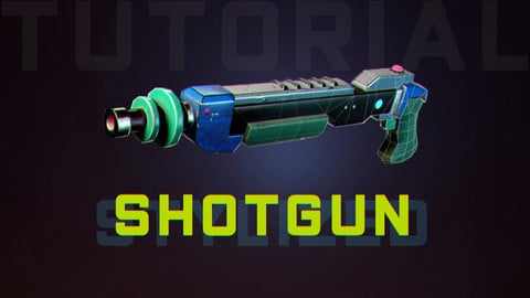 Blender 2.8 and Substance Painter - Modeling and Texturing a Stylized Shotgun