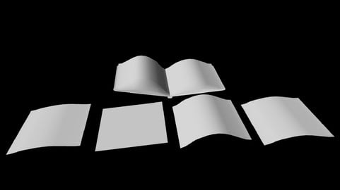 Open Book Paper Pieces untextured