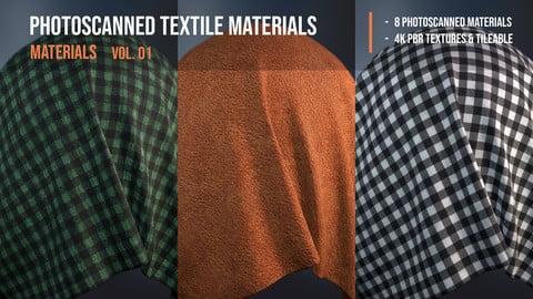 Photoscanned textile materials - materials vol. 01