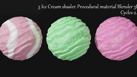 Procedural ice cream material for Blender 3D. Cycles 2.8.