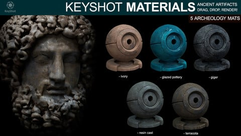 Archeology materials - For Keyshot