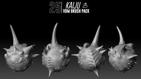 Kaiju VDM Brush Pack / Zbrush