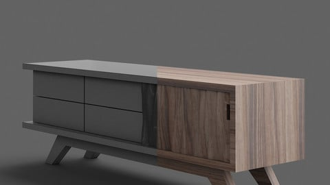 3D Modeling & Rendering Tv stand