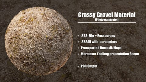 Grassy Gravel Ground - Photogrammetry Material