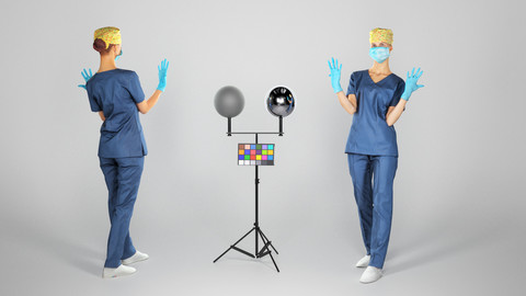 Surgical nurse ready for surgery 108