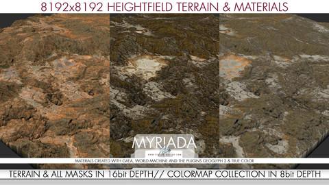 8k Heightfield Terrain & Materials - Myriada
