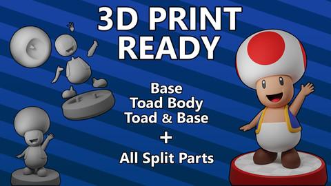 Toad - 3D Print Ready - Super Mario Bros