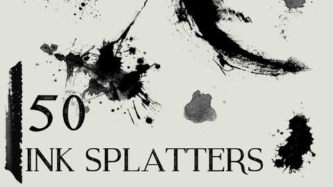 Ink Splatter Brush Pack - 50 Photoshop Brushes