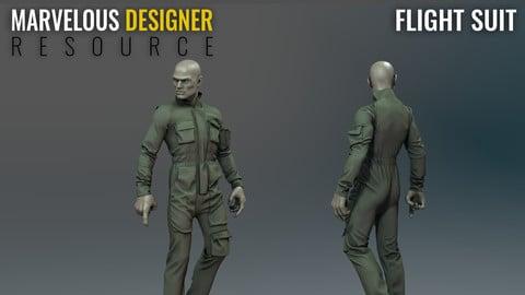 Flight Suit - Marvelous Designer Resource