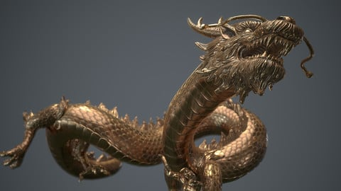 Dragon Generator - Zbrush IMM Brush and two posed fully textured Dragon Models