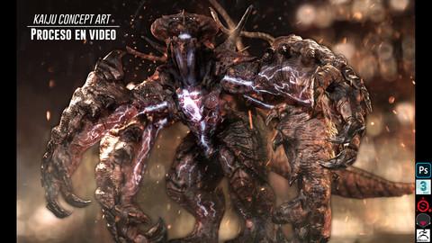 Creacion de creatura/Kaiju - Concepto en 3D