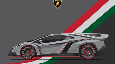 LAMBORGHINI VENENO/Digital File Vector