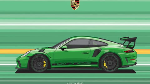 PORSCHE 911 GT3 RS/Digital File Vector