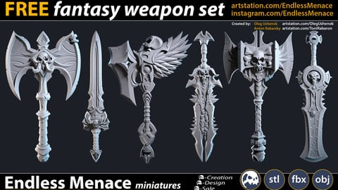 FREE Fantasy Weapon Set