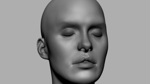 Base Female Head 03