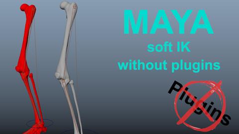 Maya soft IK setup with vanilla maya nodes