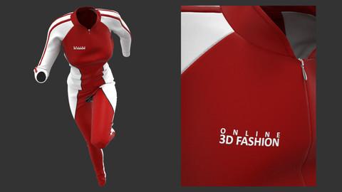 Marvelous Designer and Clo3D - Female Sport Suit