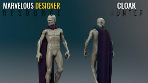 Cloak One Sided - Marvelous Designer Resource