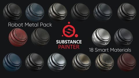 18 Robot Metal Substance Painter Smart Material Pack