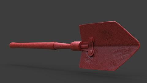 Old Steampunk Shovel 3D Print
