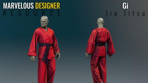 Jiu Jitsu Gi - Marvelous Designer Resource