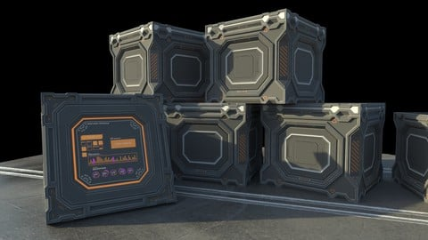 Sci-fi Cargo crate