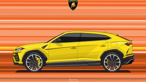 LAMBORGHINI URUS/THE CREATE CAR FLAT VECTOR FROM PHOTOS