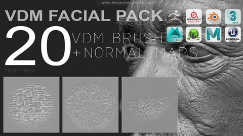 VDM - FULL FACIAL SKIN PACK [20+MAPS]