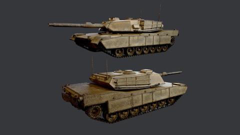 M1 Abrams Tank Military Vehicle Game Ready