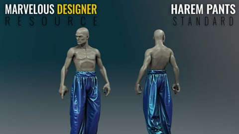 Harem Pants - Standard - Marvelous Designer Resource