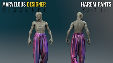 Harem Pants - Yoga - Marvelous Designer Resource File