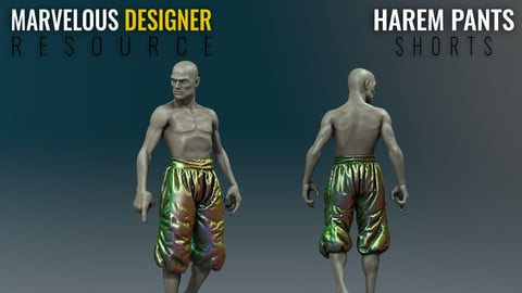 Harem Pants - Shorts - Marvelous Designer Resource File