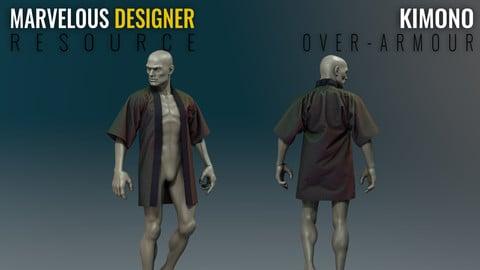 Kimono - Over Armour - Marvelous Designer Resource