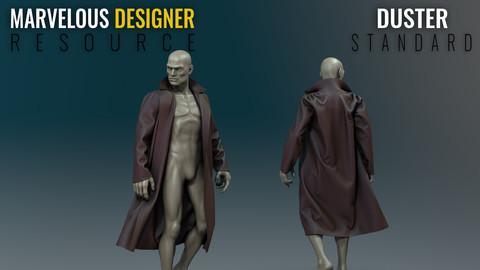 Duster - Standard - Marvelous Designer Resource