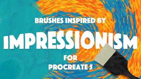 IMPRESSIONISM BRUSHES FOR PROCREATE 5