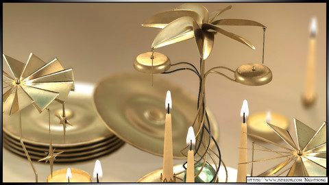 3D Candle Mobile and Chime